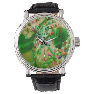 緑のドーナツの腕時計 ウォッチ