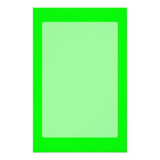 緑のネオン色はこれをカスタマイズ 便箋