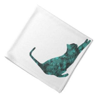 緑のネコ科のCrystalKatzのカスタムのバンダナ バンダナ