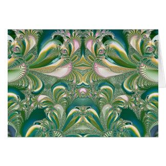 緑のノートまたは挨拶状の熱帯歓喜 カード