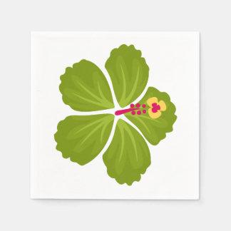 緑のハイビスカスの花 スタンダードカクテルナプキン