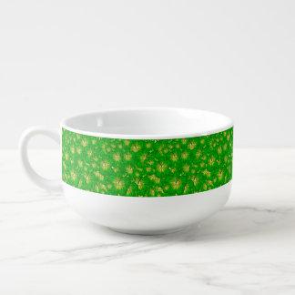 緑のハイビスカス スープマグ