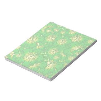 緑のハイビスカス ノートパッド