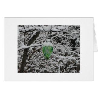 緑のハチドリの送り装置 カード