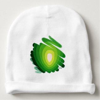 緑のハートのチャクラの芸術のらせん状の赤ん坊の帽子 ベビービーニー