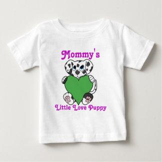 緑のハートのバレンタインデーのDalmatian犬 ベビーTシャツ