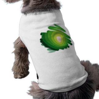 緑のハートの芸術のらせん状ペットワイシャツ ペット服