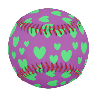 緑のハートの野球 野球ボール