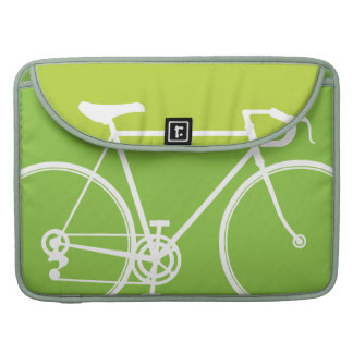 """緑のバイクのデザインMacbookプロ15""""ラップトップの箱 MacBook Proスリーブ"""