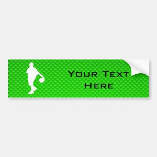 緑のバスケットボール バンパーステッカー