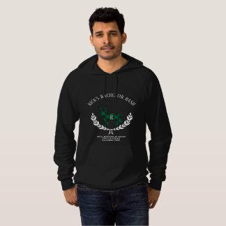 緑のバッファローの格子縞の雄鹿のモノグラム パーカ