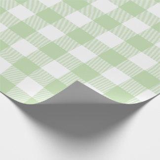 緑のバッファローの点検パターン ラッピングペーパー