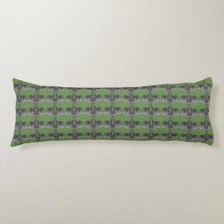 緑のバニーパターン ボディピロー