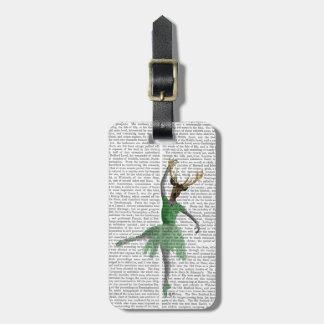 緑のバレエのシカ ラゲッジタグ