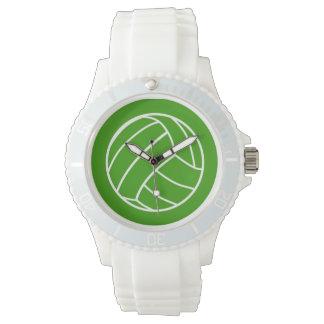 緑のバレーボールの腕時計 腕時計
