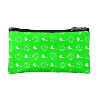 緑のバレーボールパターンクラッチ コスメティックバッグ