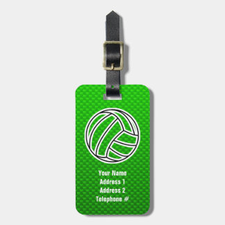 緑のバレーボール ラゲッジタグ