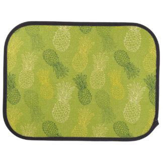 緑のパイナップル輪郭パターン カーマット