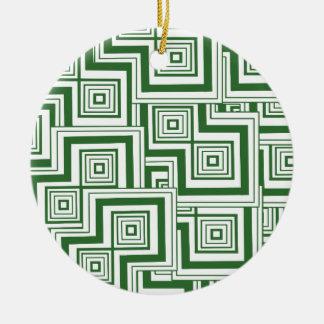 緑のパズル セラミックオーナメント