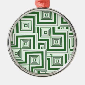 緑のパズル メタルオーナメント