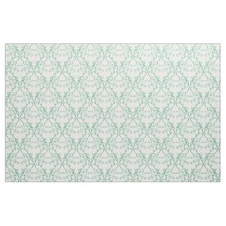 緑のパリのダマスク織パターン生地 ファブリック