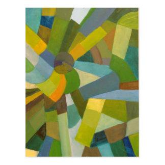 緑のパレット ポストカード