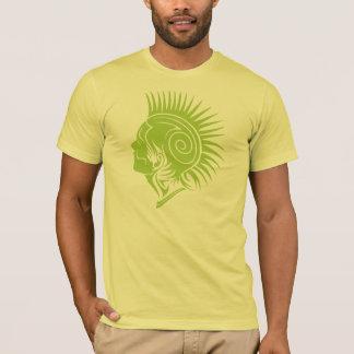 緑のパンクの種族の入れ墨のスパイクのデザイン Tシャツ