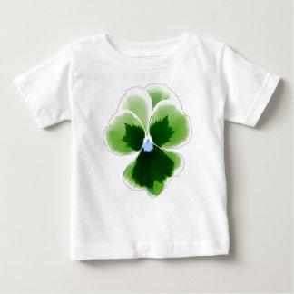緑のパンジーの花201711d ベビーTシャツ