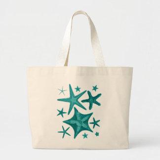 緑のヒトデのコレクション2 ラージトートバッグ