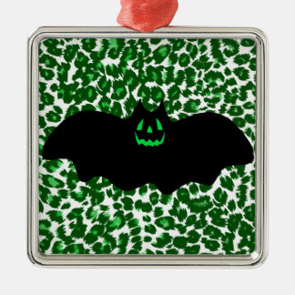 緑のヒョウの点のこうもり メタルオーナメント