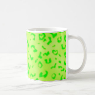 緑のヒョウ コーヒーマグカップ