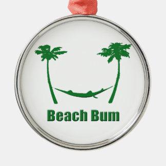 緑のビーチののらくら者 メタルオーナメント