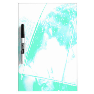緑のビーチのやし ホワイトボード