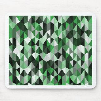 緑のピラミッドパターン06 マウスパッド