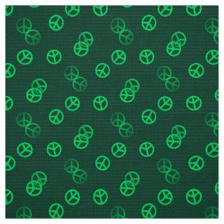 緑のピースサイン ファブリック