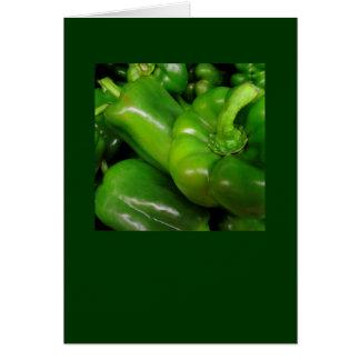 緑のピーマンのギフトの範囲 カード