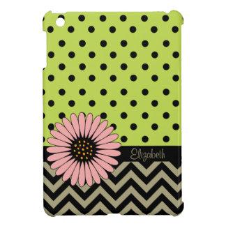 緑のファンキーなL'ilのデイジーの点のiPad Miniケース iPad Miniカバー