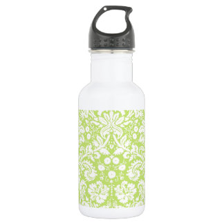 緑のファンシーなダマスク織パターン ウォーターボトル