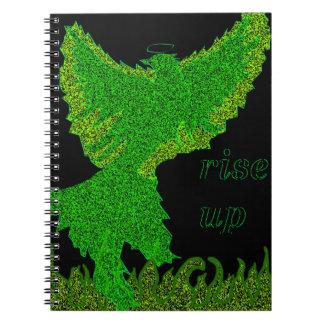 緑のフェニックスのインスピレーションのノート ノートブック