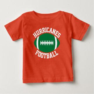 緑のフットボールのベビーのカスタムなチーム名前か文字及び数 ベビーTシャツ