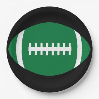 緑のフットボールの紙皿 ペーパープレート