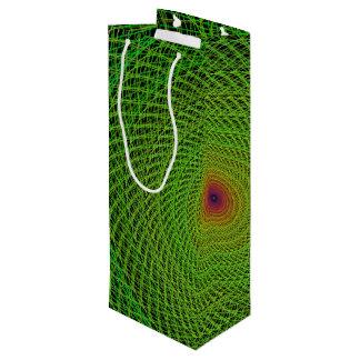緑のフラクタル ワインギフトバッグ