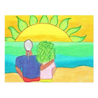 緑のフラッシュの監視 ポストカード