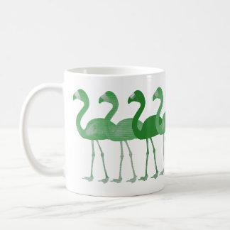 緑のフラミンゴのレトロのヴィンテージのコーヒー・マグ コーヒーマグカップ