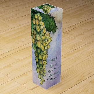 緑のブドウの白ワインのカスタムなボトルの芸術のギフト用の箱 ワインギフトボックス