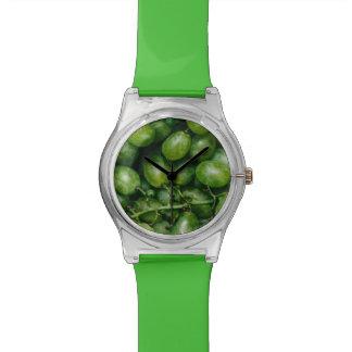 緑のブドウの腕時計 腕時計