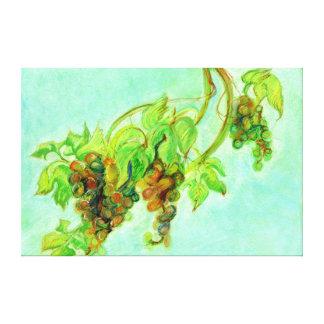 緑のブドウ キャンバスプリント