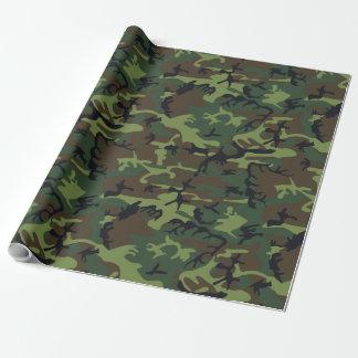 緑のブラウンの黒い狩りのカムフラージュ ラッピングペーパー