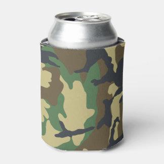 緑のブラウンを採取する軍隊のカムフラージュの狩り 缶クーラー