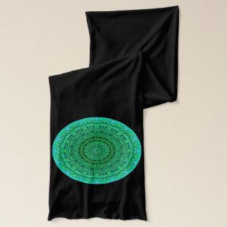 緑のブロケードの曼荼羅のスカーフ スカーフ